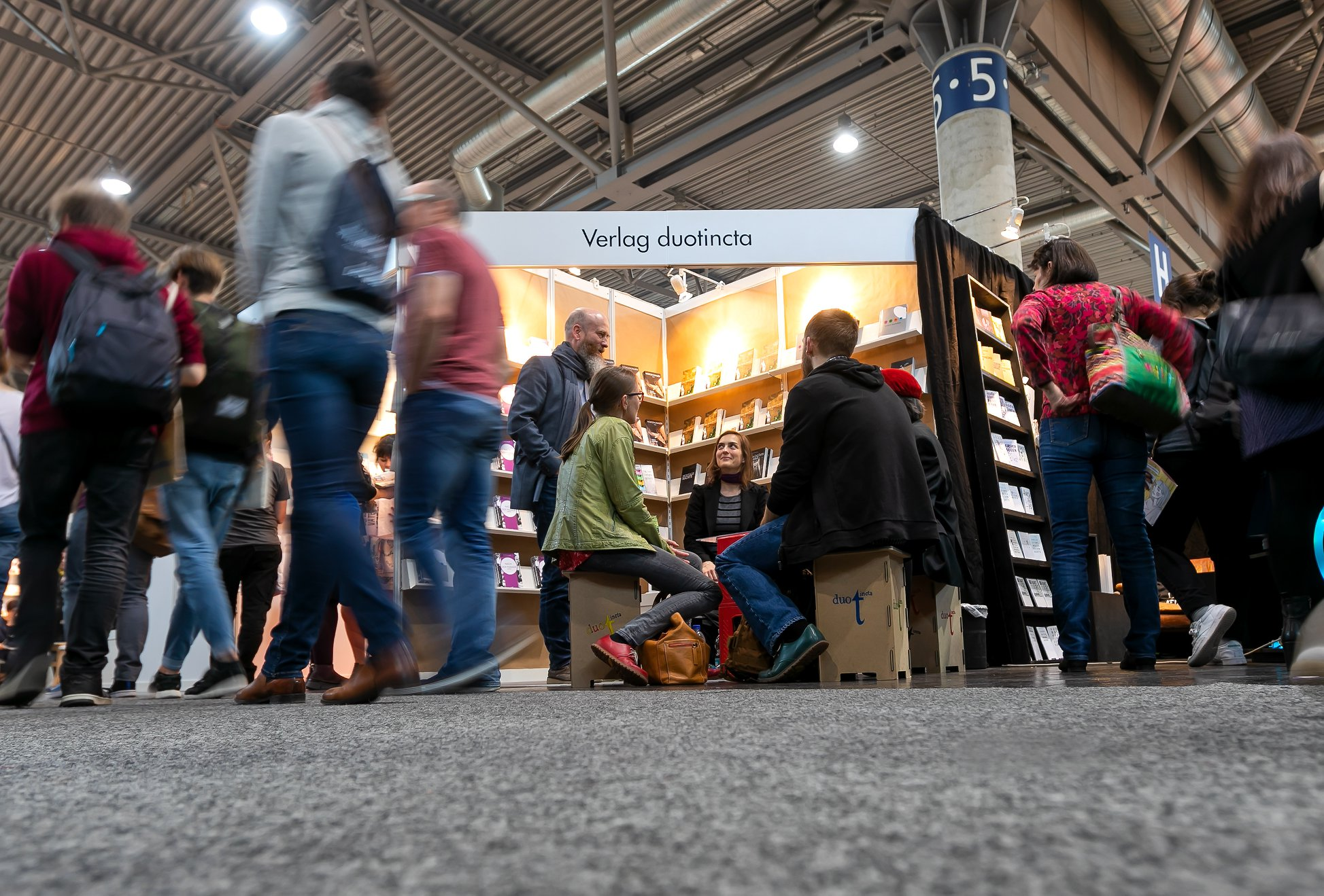 Die duotinctaner am Verlagsstand auf der Leipziger Buchmesse 2019