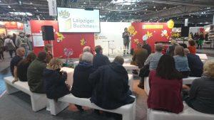 Lutz Flörke liest auf der Leipziger Buchmesse 2019, Leseinsel Junge Verlage